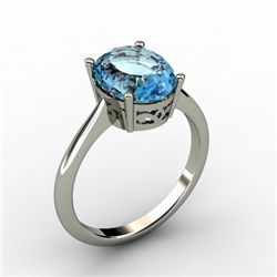 Topaz 3.50 ctw Ring 14kt White Gold
