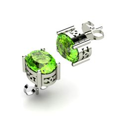 Peridot 2.70ctw Earring 14kt White Gold