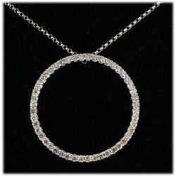 Genuine 0.75ctw Diamond Necklace 14kt W/G 3.38g