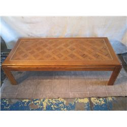 LONG SKINNY WOODEN SHORT COFFEE TABLE