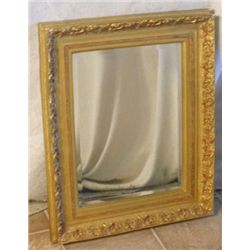 DECORATIVE GOLD TRIM BEVELED MIRROR
