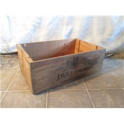 J.WILE&SONS '85 NAPA VALLEY WINE WOOD CRATE