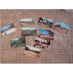 9 POST CARDS SILVER GATE MONTANA, GATEWAY ROCK,