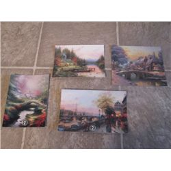 4 THOMAS KINKADE POST CARDS
