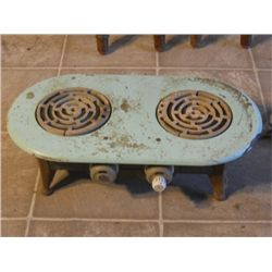 ANTIQUE PORCELAIN TOP ELECTRIC STOVE TOP
