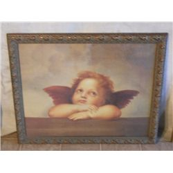 EARLY 20's GOLD FRAMED  ANGEL