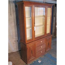 BASSETT FURINTURE WOOD CHINA HUTCH