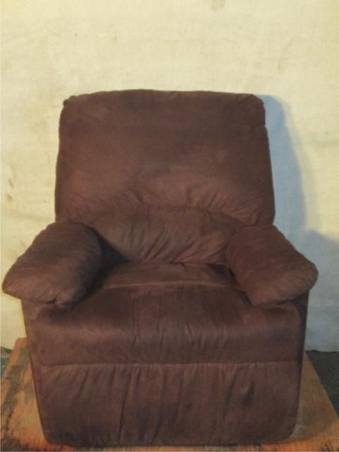 Image 1 : BROWN SUEDE RECLINER/ ROCKING CHAIR ...