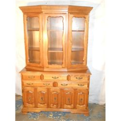 solid maple 50's China hutch