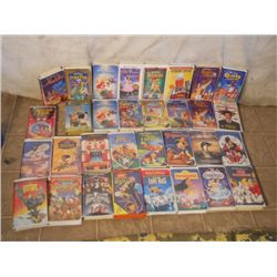 Box lot of VHS DISNEY Movies