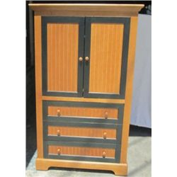 3 drawer 2 door nice brown & black entertainment