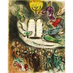 Chagall  Moses &amp; The 10 Commandments  Ltd Edition, Giclee on Paper, 23 x17 