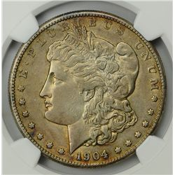 1904-S  AU50 * Key Date Morgan Dollar