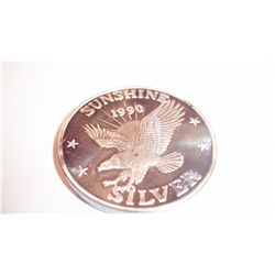 THREE .999 PURE SILVER ONE TROY OZ ROUND EAGLES