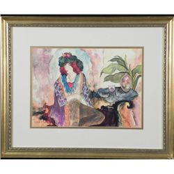 Linda R. Denison LE Print Woman Framed