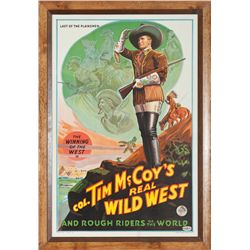Lithograph Poster - Col. Tim McCoy's Real Wild West and Rough Riders of the World