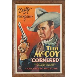 "Tim McCoy in ""Cornered"" Movie Poster"