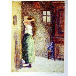 Limited Edition Pissaro- Jane Paysanne A Sa Toilette - Collection Domaine Pissaro