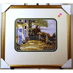 Borelli - The Garden Courtyard  -Lithograph