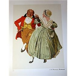 Rockwell Original Gold-Signed Lithograph - Dancing Partners