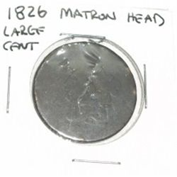 1826 MATRON HEAD LARGE CENT *HARD TO FIND COIN*!!