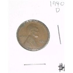 1940-D Cent Penny *PLEASE LOOK AT PICTURE TO DETERMINE GRADE - Nice Coin*!!