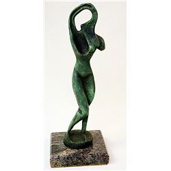 Alexander Archipenko Limited Edition Sculpture - Woman Combing Her Hair