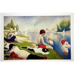 George Suerat  Signed Limited Edition - Bathers at Asnieres