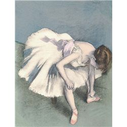 Seated Dancer - Edgar Degas - Limited Edition on Canvas