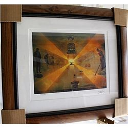 Salvador Dali Signed Limited Edition - The Railway Station At Perpignan