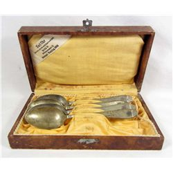 SET OF 4 GERMAN NAZI SPOONS IN CASE