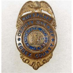 NEW JERSEY ESSEX COUNTY DEPUTY SHERIFF BADGE