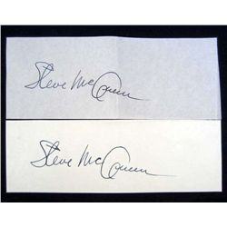 LOT OF 2 CUT SIGNATURES OF STEVE MC QUEEN