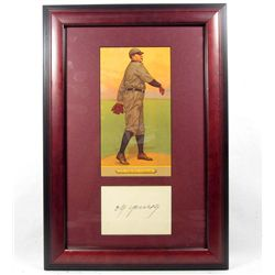 CY YOUNG CUT SIGNATURE W/ PICTURE - FRAMED