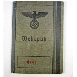 GERMAN NAZI ARMY IDENTIFICATION WEHRPASS BOOK