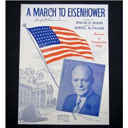 PRESIDENT DWIGHT D EISENHOWER SIGNED INAUGURATION SHEET MUSIC
