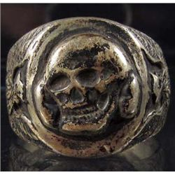 GERMAN NAZI WAFFEN SS OFFICERS TOTENKOPF SKULL RING