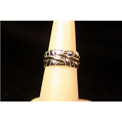 Unisex Stylish Sterling Silver  Leafs  Design Tiffany Ring