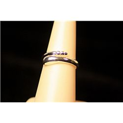 Lady's Unique Style Sterling Silver  Raddle Snake Tail  Design Tiffany Ring