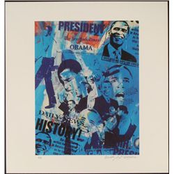 Bobby Hill Signed Barrack Obama Urban Pop Art Print