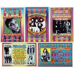 5 Pop & Motown Concert Repro Posters Beach Boys, 4 Tops