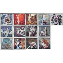 13 Pc Ting Shao Kuang Yunnan Art Print Collection