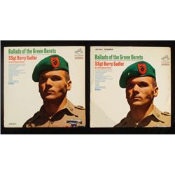 TWO COPIES OF BALLADS OF THE GREEN BERETS 1966