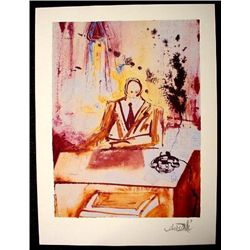 BUSINESSMAN After Dali Surreal Art Print Litho