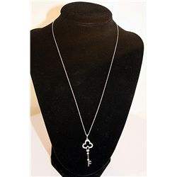 LADIES FANCY DIAMOND SKELETON KEY NECKLACE