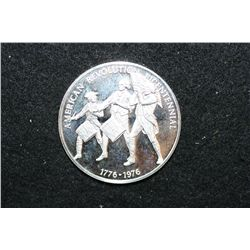 1971 American Revolution Bicentennial Silver Round; Postmasters of America Commerative Issue #1; Was