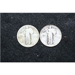 Standing Liberty Quarter; Lot of 2; Dates Unreadable