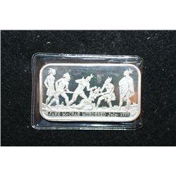 Jane McCrae Silver Ingot; .999 Fine Silver 1 Oz.; Murdered by British Allied Indians in 1777