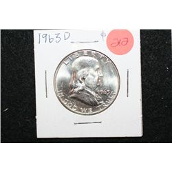 1963-D Ben Franklin Half Dollar