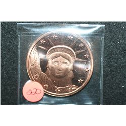 2011 Copper Round; .999 Fine Copper 1 Oz.